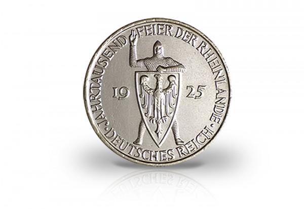 5 Reichsmark Silbermünze 1925 Weimarer Republik Jahrtausendfeier Rheinlande Jaeger-Nr. 322