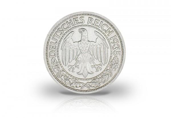 50 Pfennig 1933-1938 Weimarer Republik Jaeger-Nr. 324
