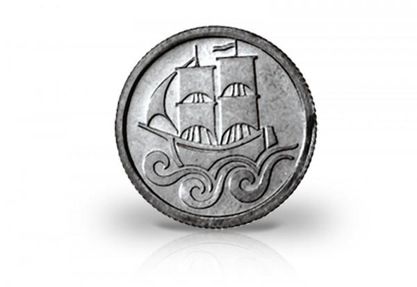 Danzig 1/2 Gulden Silbermünze 1923
