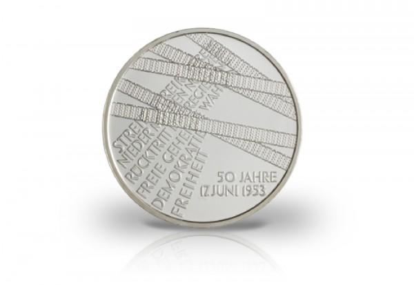 10 Euro Silbermünze 2003 Deutschland 50 Jahre Volksaufstand PP