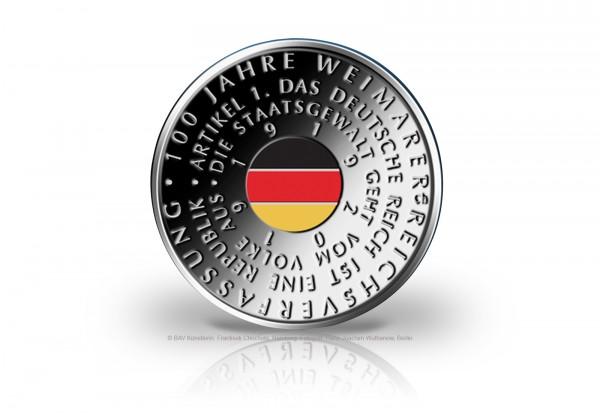 20 Euro Silbermünze 2019 Deutschland 100 Jahre Weimarer Reichsverfassung st Vorbestellung