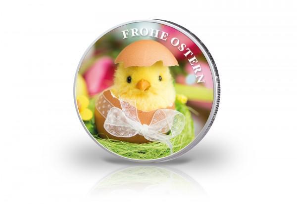 2 Euro Motiv Ostern mit Farbmotiv