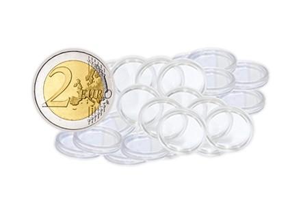 10 Münzkapseln für 2 Euro Münzen