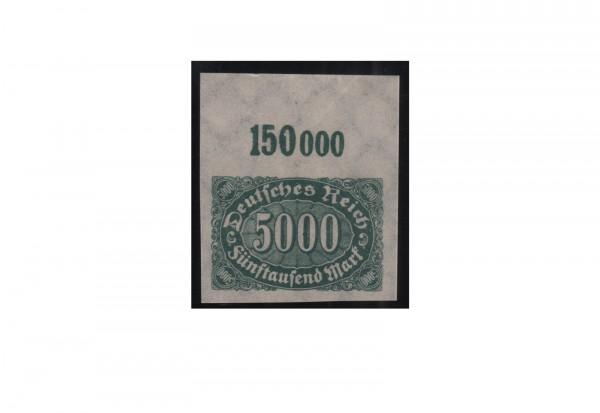 Deutsches Reich Mi.Nr. 256 U OR postfrisch Ziffern im Oval 1923