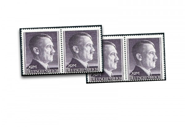 Deutsche Reich Mi.Nr. 800B/801B Postfrisch PA Hitler 1944 waag. Paare