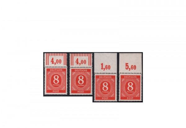 Alliierte Besetzung Michel-Nr. 917 a, aa, b OR P/W postfrisch geprüft Ziffern 1946