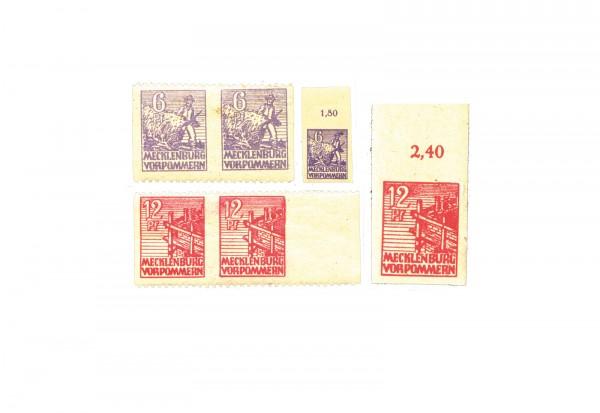SBZ 1945 ex Mi.Nr. 29/40 x/y postfrisch und geprüft