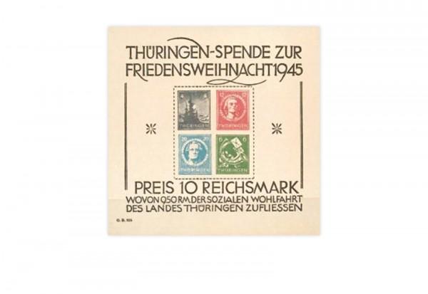 SBZ Block 2 postfrisch Großer Weihnachtsblock 1945