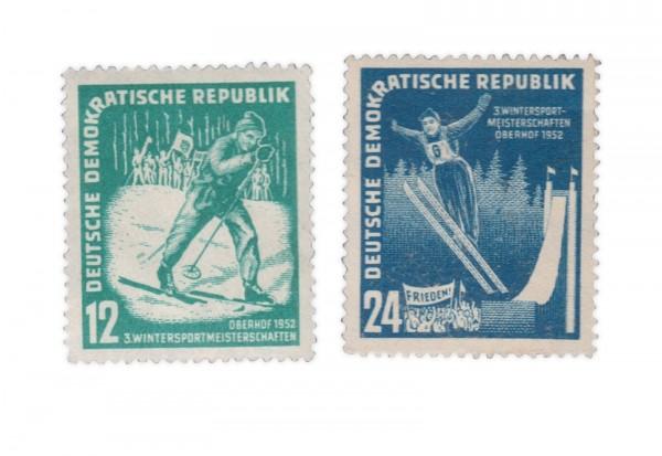 DDR Michel Nr. 298-299 gestempelt Oberhofer Wintersportspiele 1952