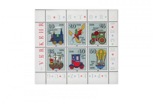 DDR Kleinbogen 1980 Michel Nr. 2566 bis 2571 postfrisch