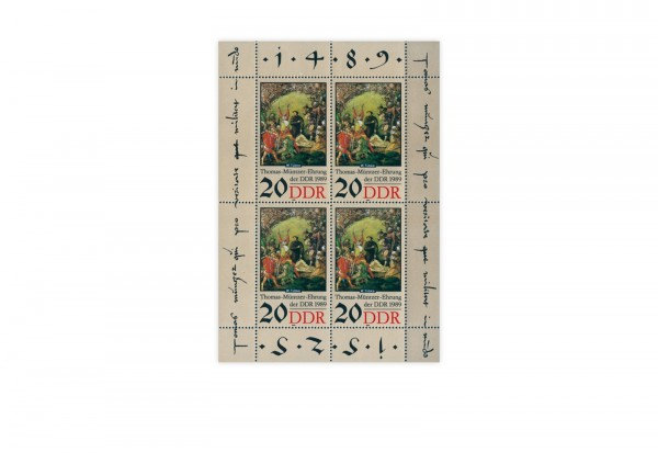 DDR Kleinbogen 1989 Michel Nr. 3271 postfrisch